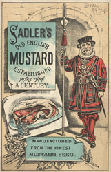 Advert for Sadler's Old English Mustard 6974